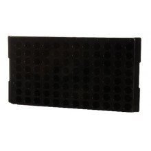 0099 Black Polypropylene Reversible 1.5mL and 2.0mL Microcentrifuge Tube Rack, 96 Places (Pack of 5) -  BIO PLAS