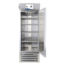 27 cu. ft.; Solid stainless-steel door, single; SS interior; Shelves: Gray – 4 Wire; Florescent light