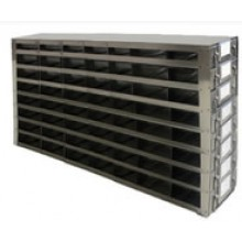 "Stainless Steel Upright Freezer Drawer Rack for 36"" (W) or 33"" (W) 25-Place Slide Boxes - 56 Boxes - 26.1"" (L) x 13.7"" (H)"