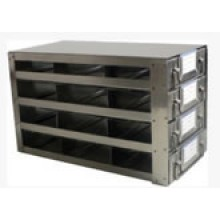 "Stainless Steel Upright Freezer Drawer Rack for 36"" (W) or 33"" (W) 25-Place Slide Boxes - 12 Boxes - 11.3"" (L) x 6.9"" (H)"