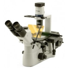 Trinocular inverted microscope for epi-fluorescence, lighting HBO, with FLUO objectives, Optika XDS-3FL