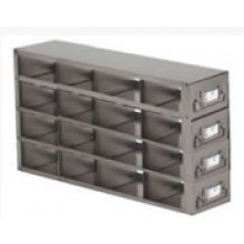 "Stainless Steel Upright Freezer Drawer Rack for 36"" (W) or 33"" (W) 25-Place Slide Boxes - 16 Boxes - 15"" (L) x 6.9"" (H)"