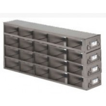 "Stainless Steel Upright Freezer Drawer Rack for 36"" (W) or 33"" (W) 25-Place Slide Boxes - 20 Boxes - 18.7"" (L) x 6.9"" (H)"
