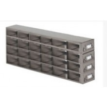 "Stainless Steel Upright Freezer Drawer Rack for 36"" (W) or 33"" (W) 25-Place Slide Boxes - 24 Boxes - 22.4"" (L) x 6.9"" (H)"