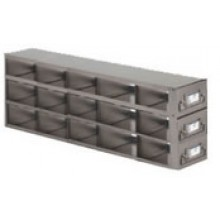 "Stainless Steel Upright Freezer Drawer Rack for MATRIX Boxes - 18 Box Capacity - 21.2"" (L) x 8"" (H)"