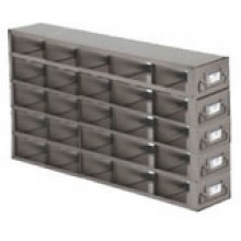 "Stainless Steel Upright Freezer Drawer Rack for MATRIX Boxes - 25 Box Capacity - 17.7"" (L) x 13.2"" (H)"