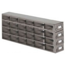 "Stainless Steel Upright Freezer Drawer Rack for MATRIX Boxes - 24 Box Capacity - 21.2"" (L) x 10.6"" (H)"