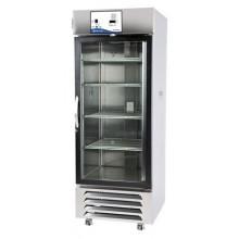 Capacity: 45 cu. ft.; Two sliding glass doors; 8 Shelves; SS exterior and liner; Alarm; Recorder; 115V 60Hz